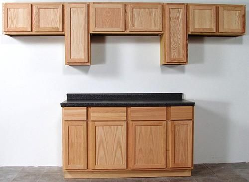 "Quality e 15"" x 30"" Unfinished Oak Standard Wall Cabinet"