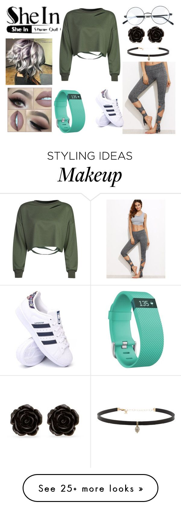 """""""Cropped Leggings"""" by olivia2233 on Polyvore featuring WithChic, adidas, Erica Lyons, Carbon & Hyde and Fitbit"""
