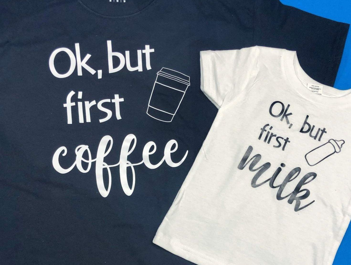 But First Coffee/Milk Matching Shirts - 1X / 4T SH