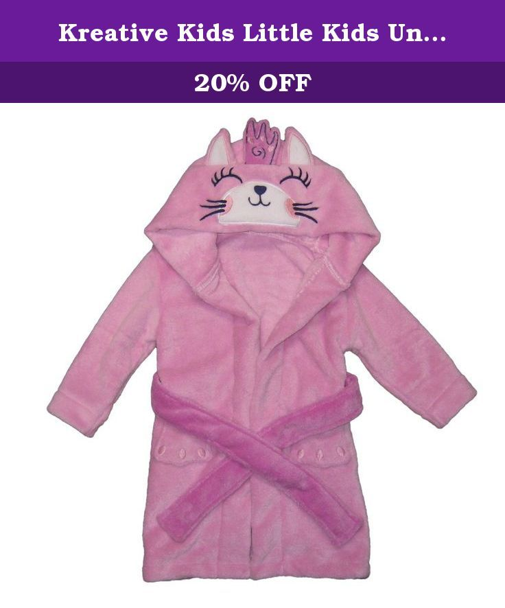 Robe Dressing Gowns 1-7 Yrs 1-2 Yrs BlueberryShop Printed Luxurious Hooded Soft Warm and Fluffy Velour Bathrobe 1-7Yrs