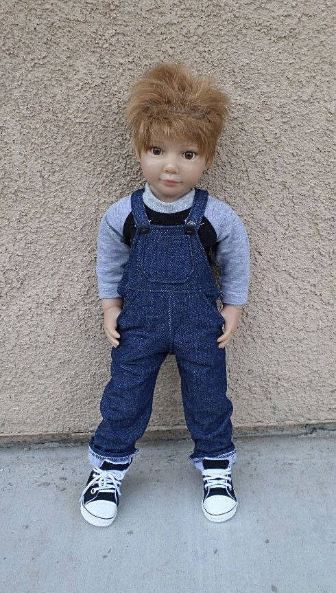 MADE TO ORDER denim overalls for slim 18 inch dolls by MagzRockingStyle on Etsy https://www.etsy.com/listing/250952512/made-to-order-denim-overalls-for-slim-18