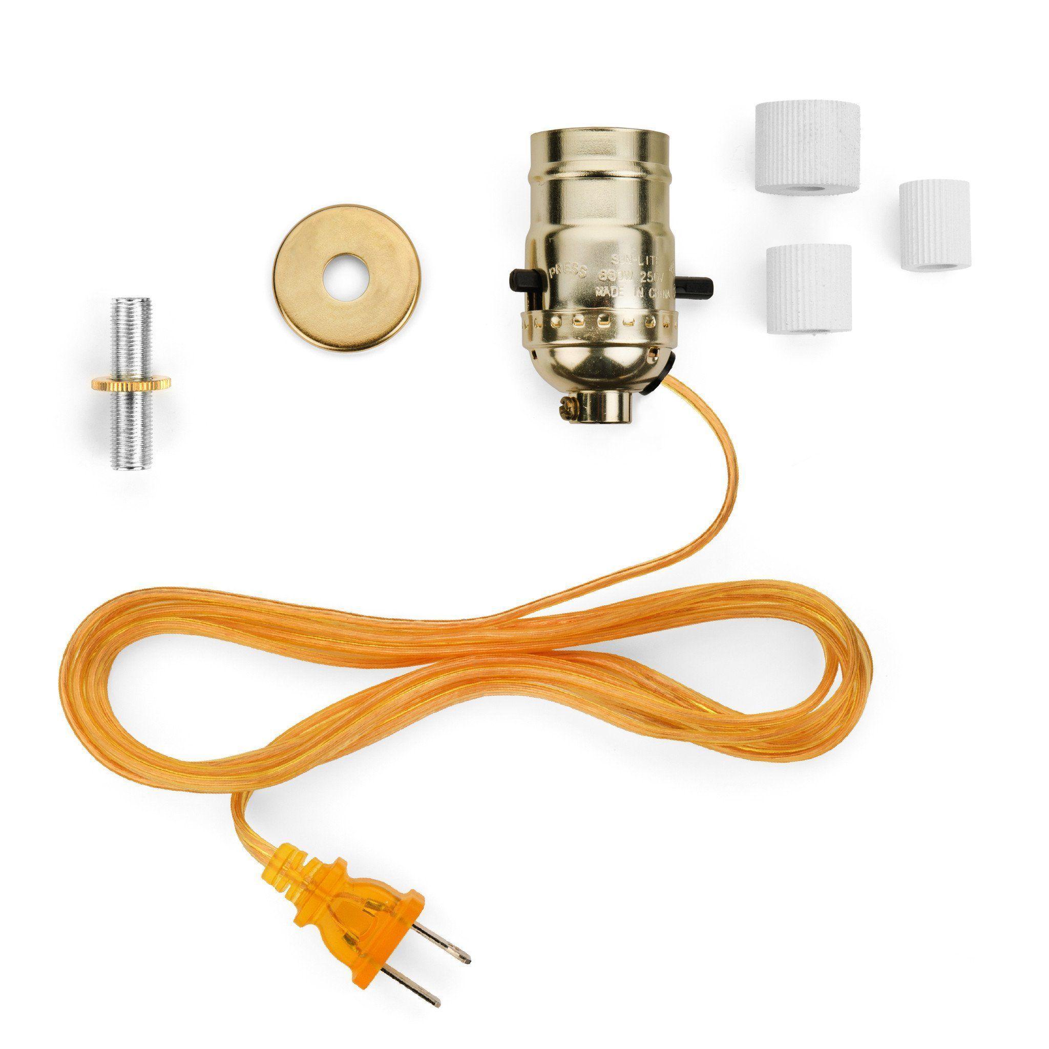 DARICE 8/' CORD LAMP SOCKET KIT NEW DIY Fix a Lamp