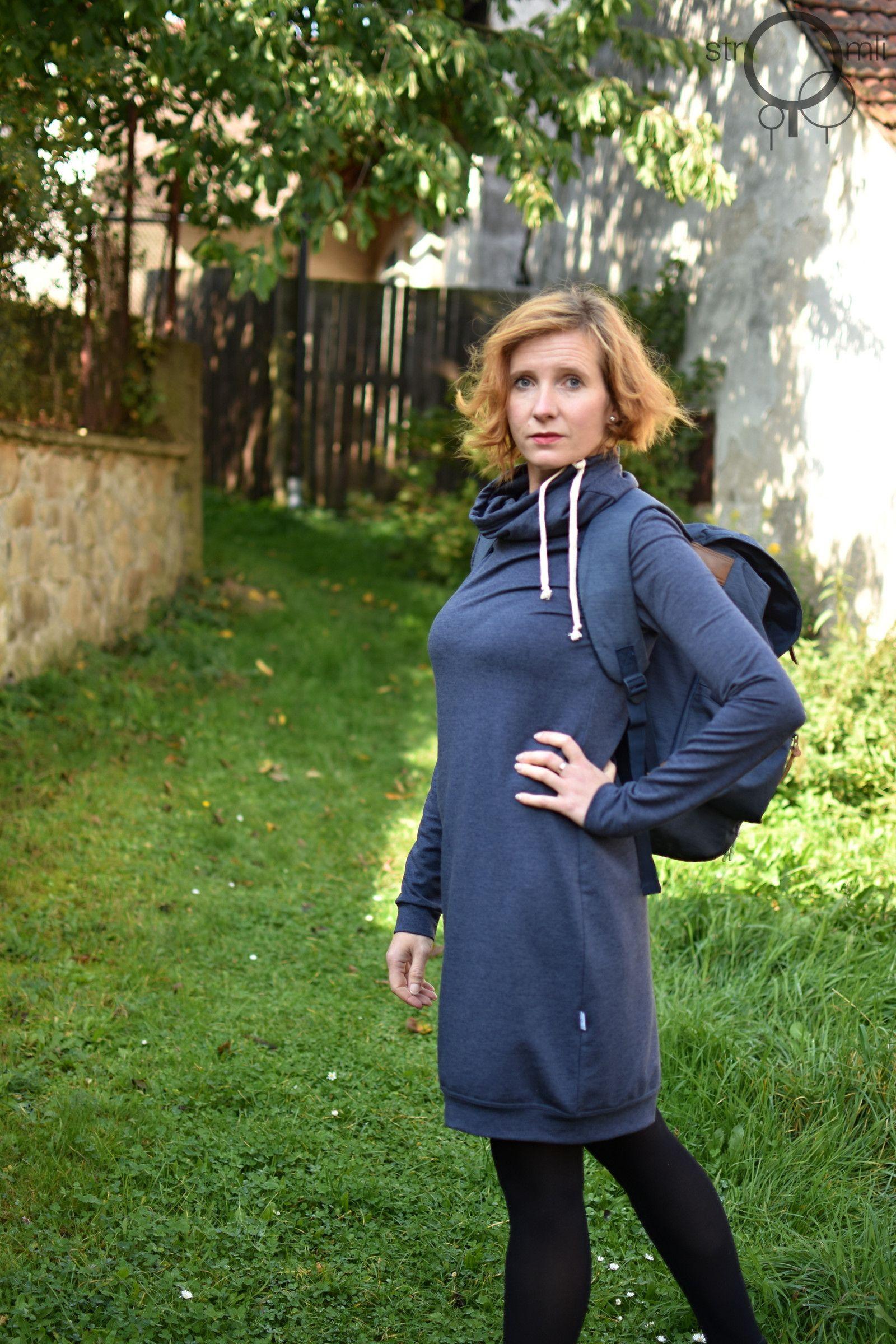 Šaty+teploučké+modré+s+melírem ad98310fb0