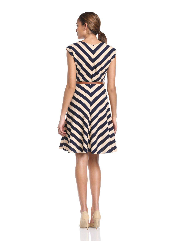 e6431e17d Louisville Slugger - Vestido a rayas sin mangas para mujer, talla 42, color  azul marino/crema: Amazon.es: Ropa y accesorios