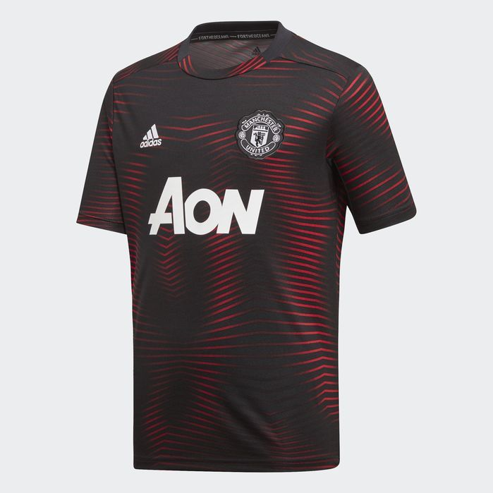 Manchester United Home Pre Match Jersey Manchester United Manchester Black Adidas