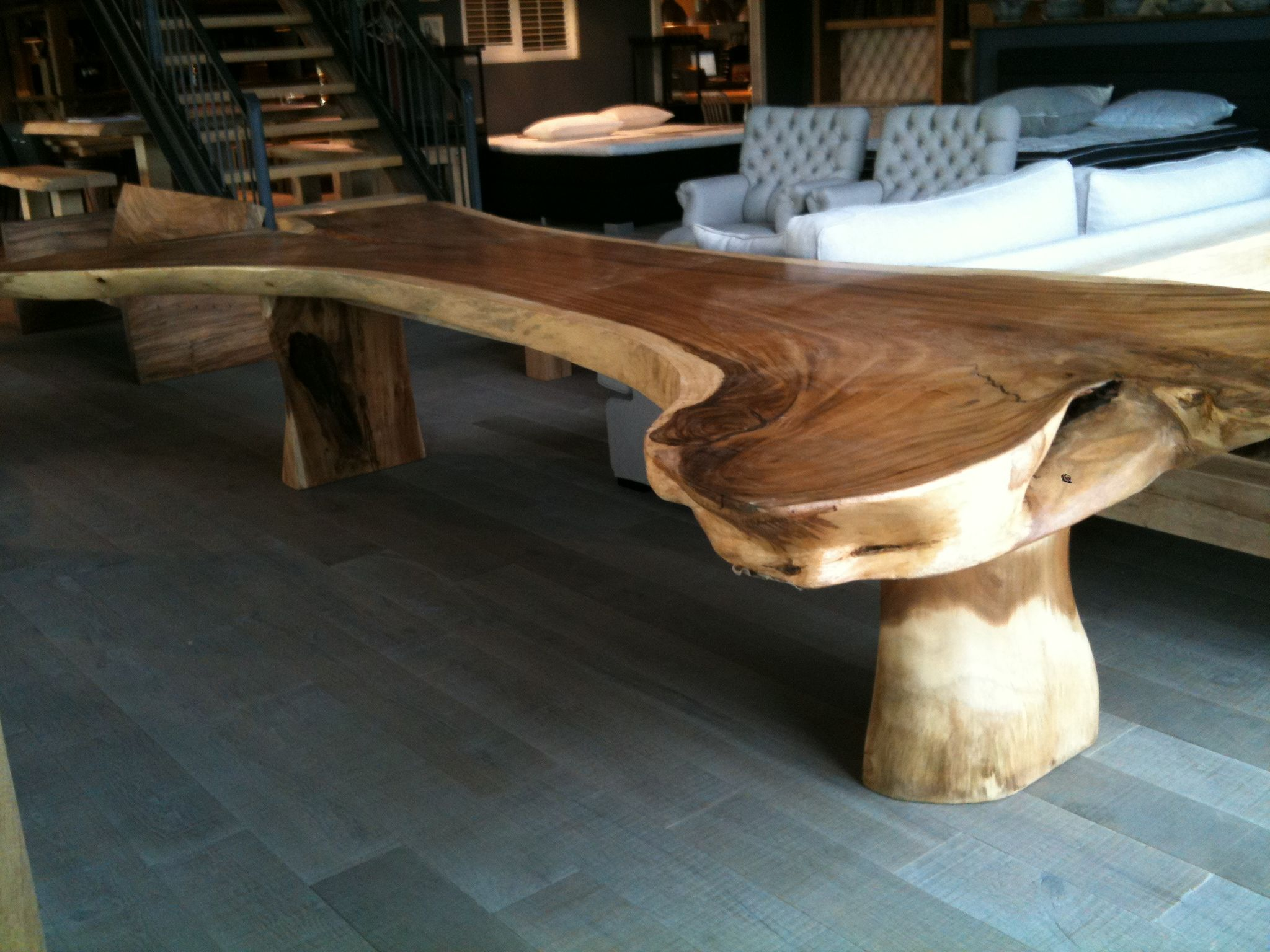 Dining table of suar tree trunk from Bali - amazing | wood ...