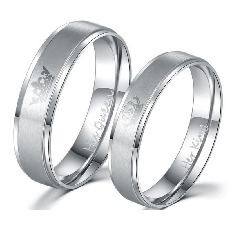 Stainless Steel Gagodeal Queen Rings Stainless Steel Wedding Ring Steel Wedding Ring