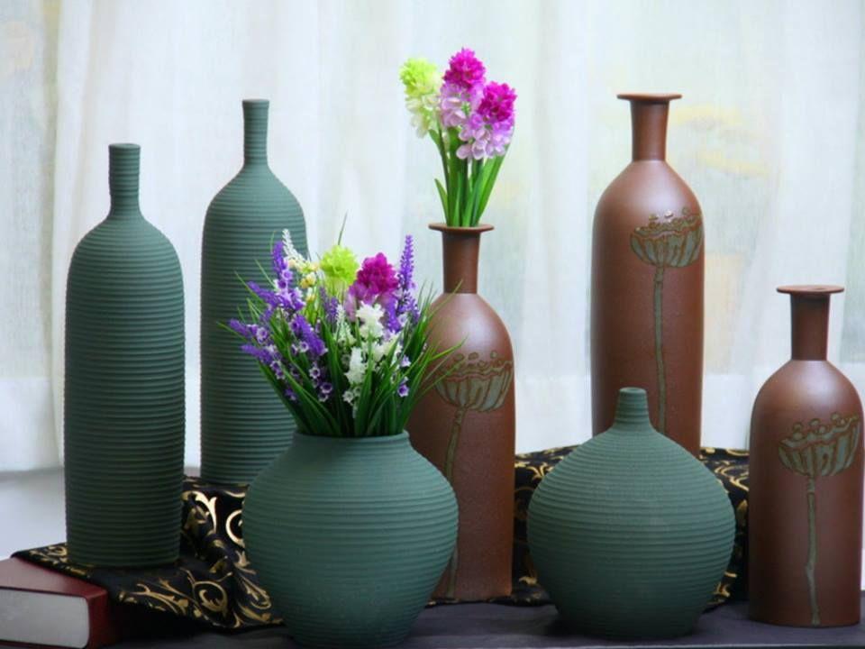 Jarrones de barro jarrones pinterest for Jarrones decorativos grandes