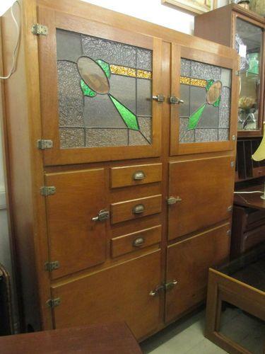 Antique Vintage Leadlight Meatsafe Cupboard Cabinet Kitchen Dresser In Adelaide Sa Ebay