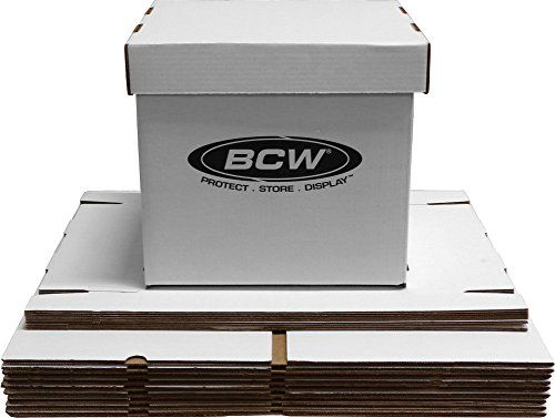 10 BCW Brand 12 Record Album Storage Box with Removable Lid  Holds Up to 65 Vinyl Records  12BC65WH ** Check this awesome product by going to the link at the image.