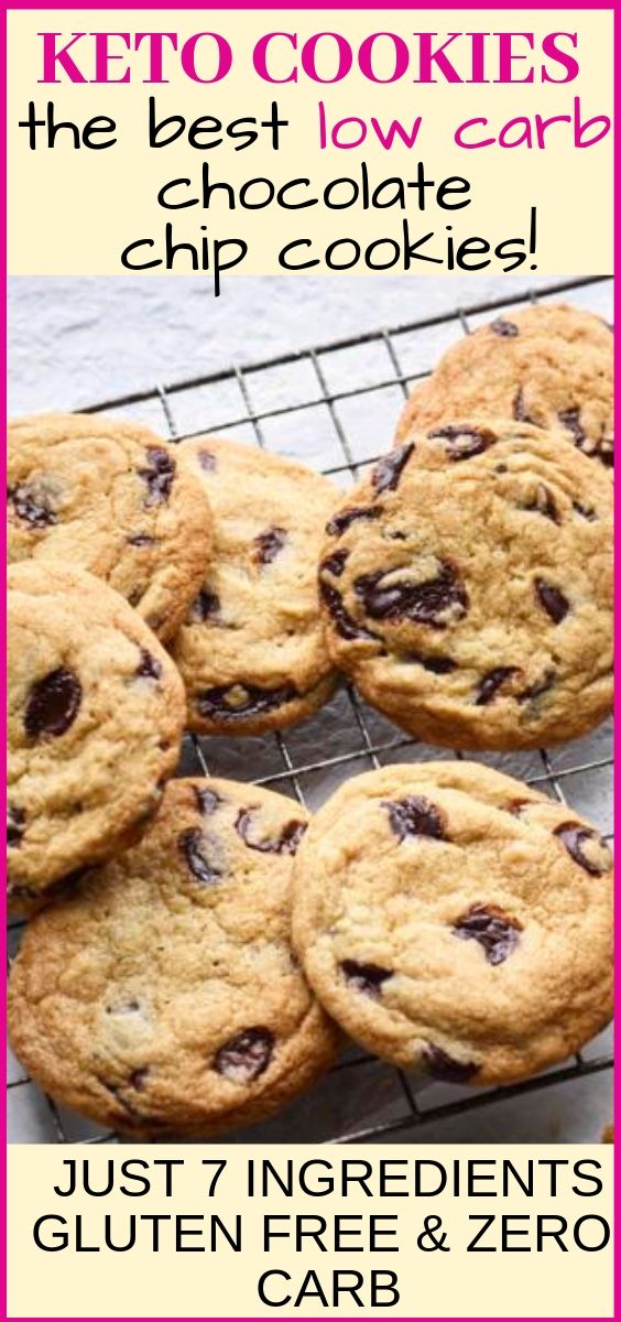 Keto cookies the best low carb chocolate chip cookies keto diet recipe #ketocookierecipes