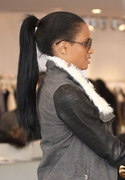 Ciara rocks a ponytail hairstyle | Hair and Beauty | Pinterest