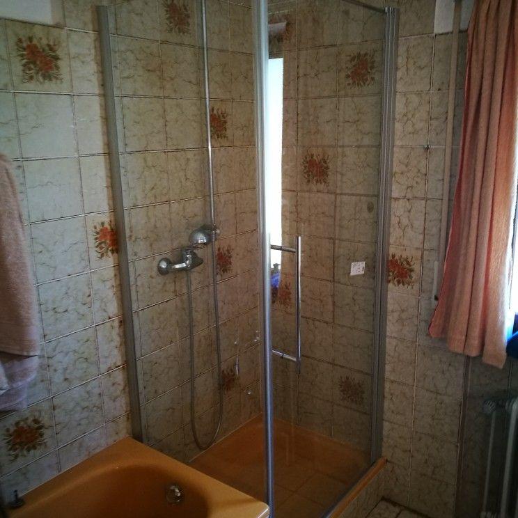 Sanierung Duschkabine glasdusche Drehtür mit