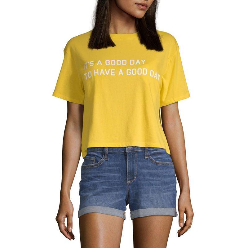 5a82fba48f0 Arizona-Womens Crew Neck Short Sleeve T-Shirt Juniors in 2019 ...