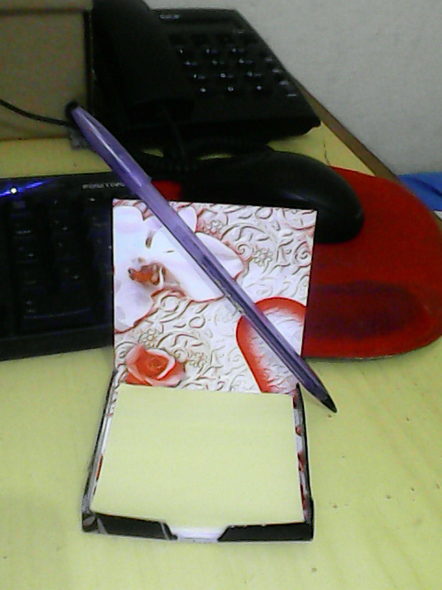 Bloquinho anotações caixinha de leite.
