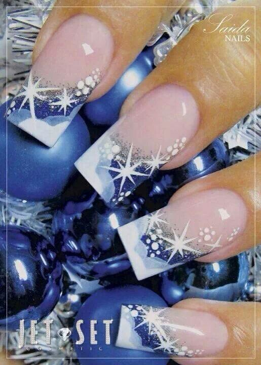 Universe nail design color nail design pinterest ongles ongles noel et manucure - Ongle noel 2016 ...