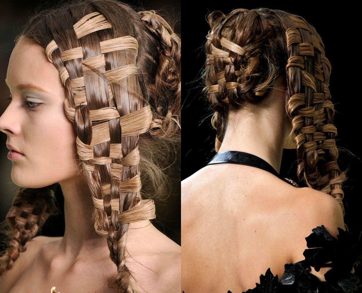 Awesome Basket Weave Braids Hairstyles | Alexander McQueen ...