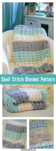 Crochet Rainbow Shell Blanket Free Pattern | The WHOot