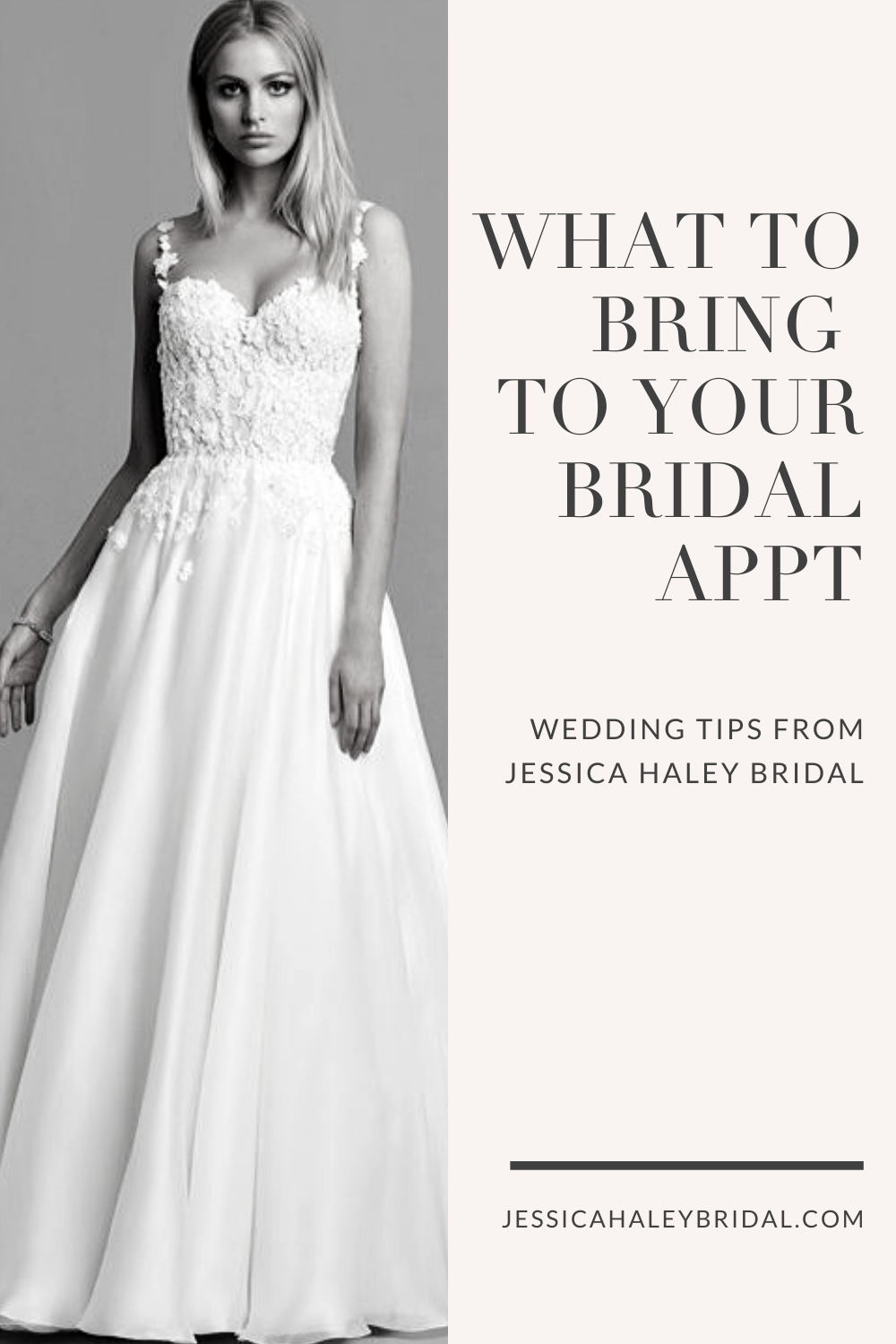 5 Things To Bring To Your Bridal Appointment Jessica Haley Bridal Wedding Dress Types Petite Wedding Dress Wedding Dresses [ 1500 x 1000 Pixel ]