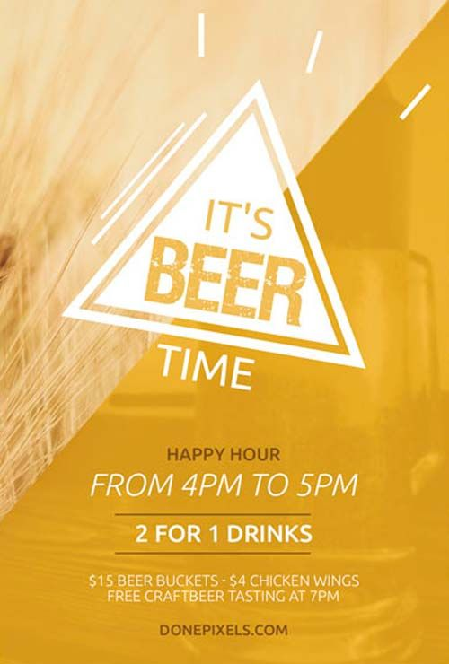 Beer Time Free Flyer Psd Template  HttpFreepsdflyerComBeer