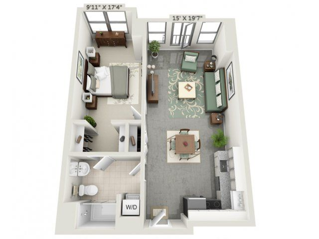 1 Bed / 1 Bath Apartment in Charlestown MA Mezzo Design Lofts