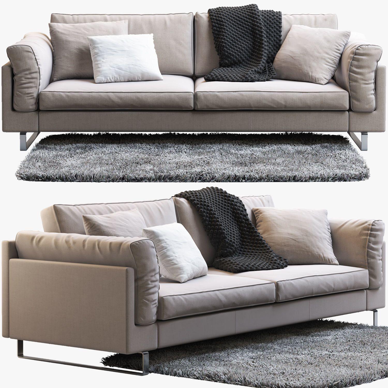 boconcept indivi 2 sofa 3d model max obj fbx mtl 1 ...