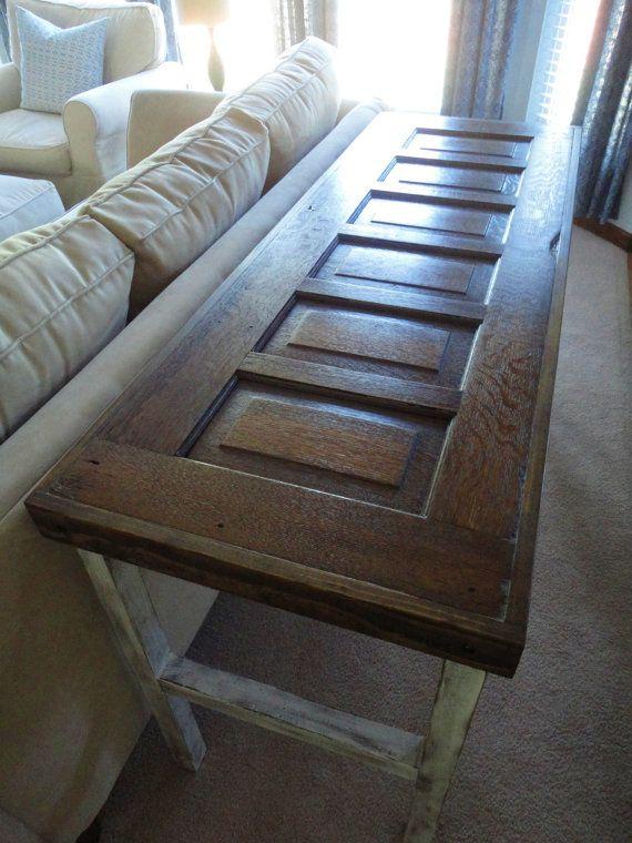 Antique Door Sofa Table Or Entryway Table Old Door Projects