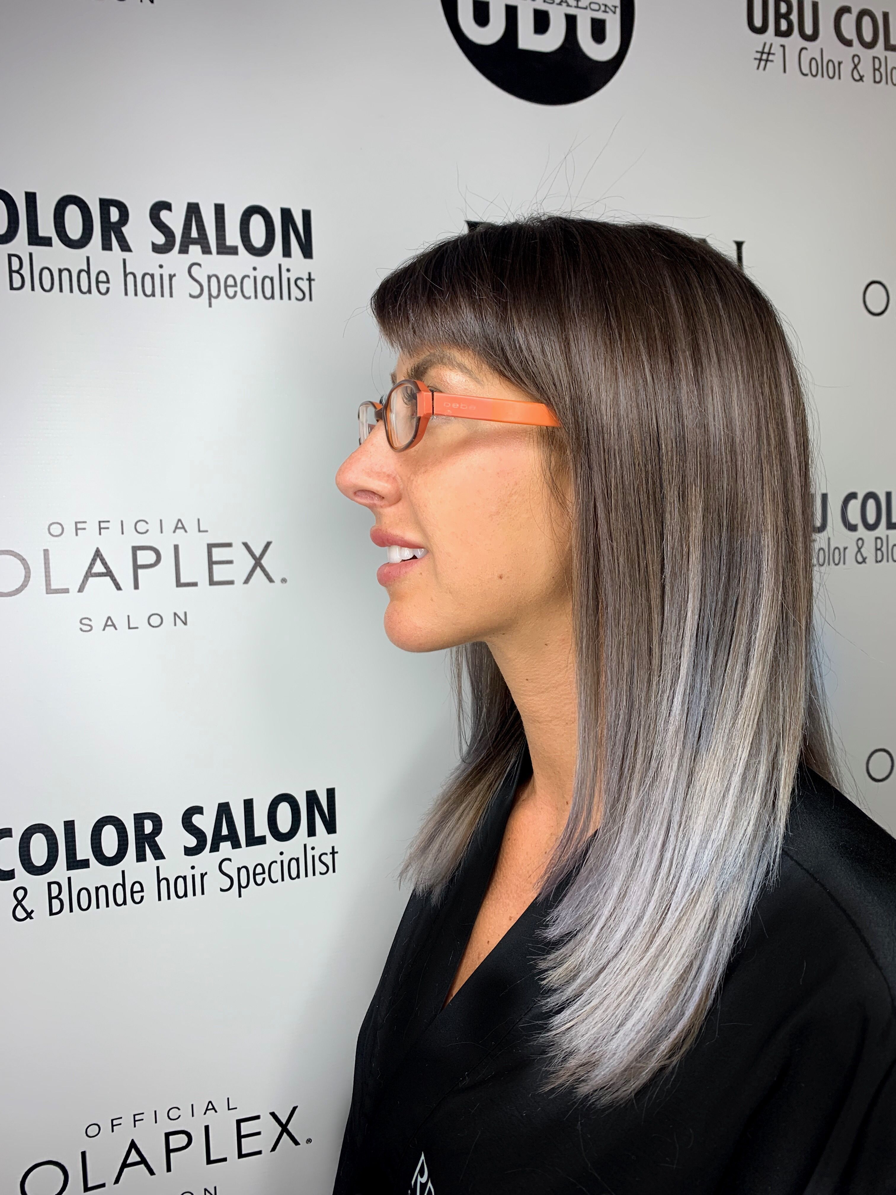 Home Ubu Color Salon In Tampa Fl Hair Specialist Silver Hair Platinum Blonde