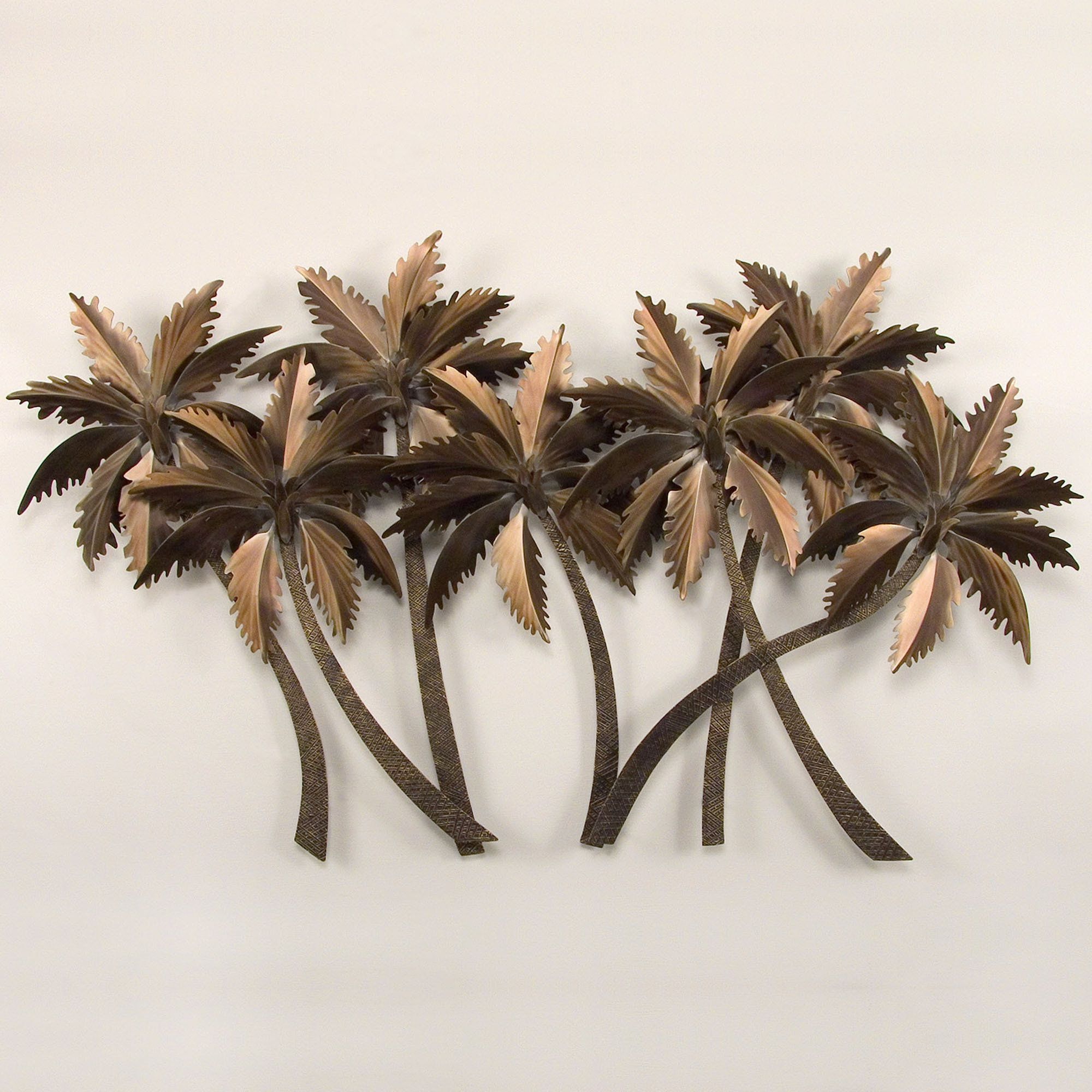 Palm Tree Metal Wall Art tropical palm grove metal wall sculpture | sculpture, tropical and