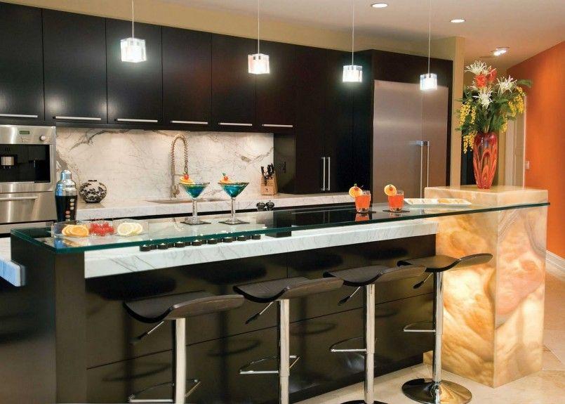 Interior Bar Design For Home Designs With Rectangle Black Bar