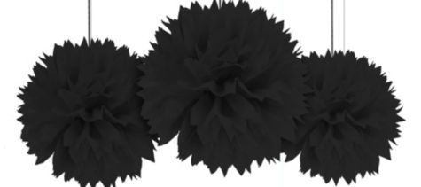 Black Fluffy Decorations
