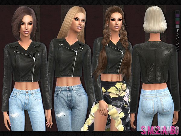 The Sims Resource: 103 - Leather jacket by sims2fanbg • Sims