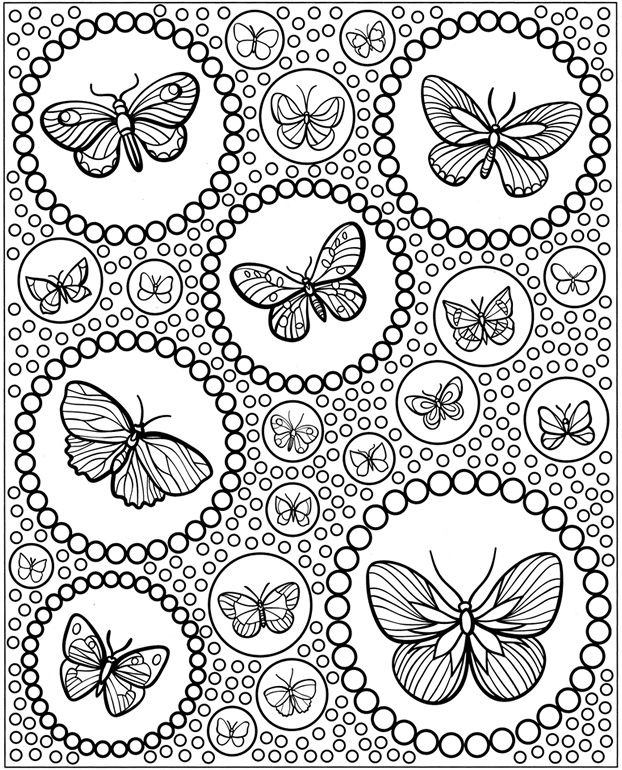 Hard Coloring Pages Difficult Coloring Pages Butterfly