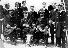 Officers of the Carpathia, who rescued over 700 from the Titanic ...