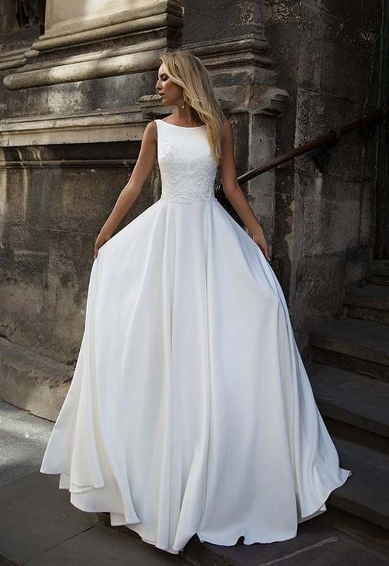 Trouwjurk Modern.Modern Wedding Dress Romantic Wedding Pinterest Bruiloft
