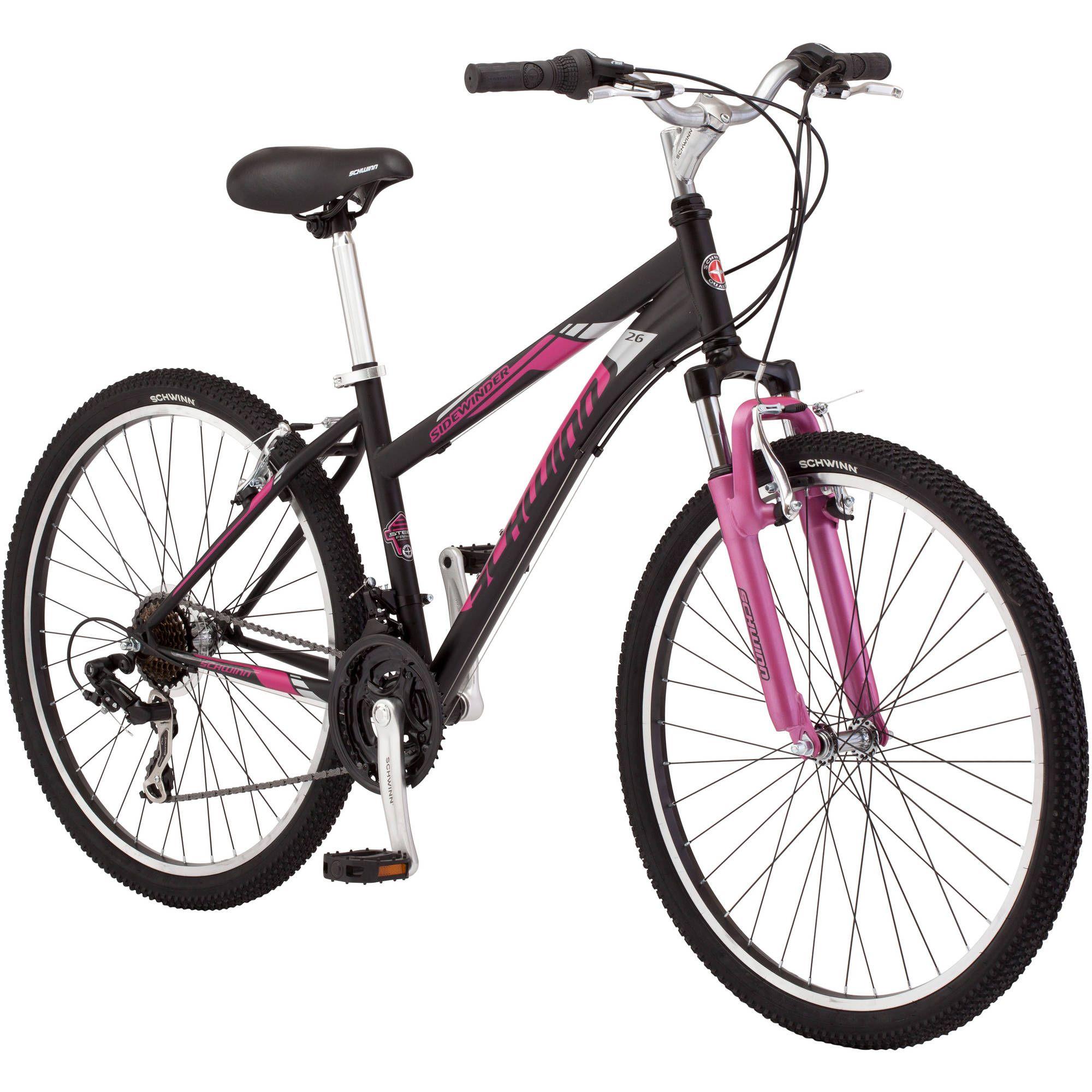 26 Schwinn Sidewinder Women S Mountain Bike Matte Black Pink For
