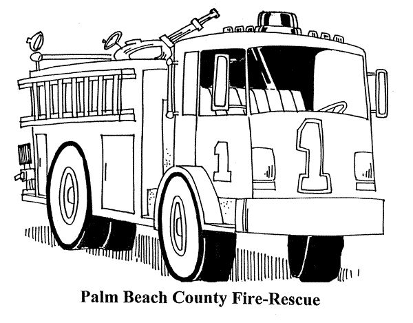 Fire Truck Coloring Pages Printable Fire Truck Coloring Pages ...