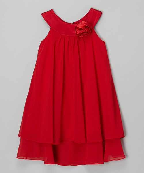 b626fab8 Look at this Kid's Dream Red Rose Yoke Dress - Kids & Tween on #zulily  today!