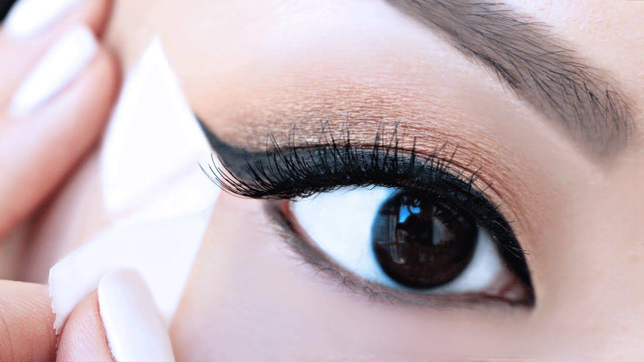 Image result for tape for eyeliner pinterest | Eyeliner for hooded eyes,  Eyeliner for beginners, No eyeliner makeup