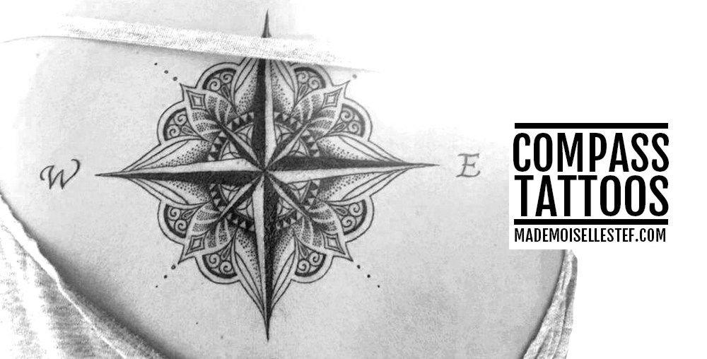 Tattoo Ideas 40 Compass I Tattoos Rose Des Vents Pinterest