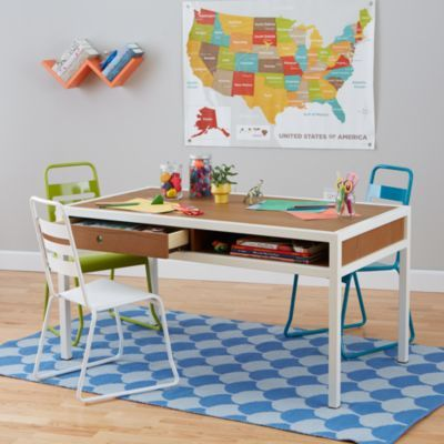 Adjustable Hi Fi Play Table Walnut White Kids Play Table Play