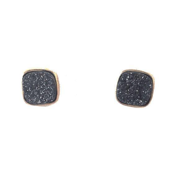 Druzy Post Earrings, $34   14kt Gold-Filled Stud   Light Years Jewelry – Light Years