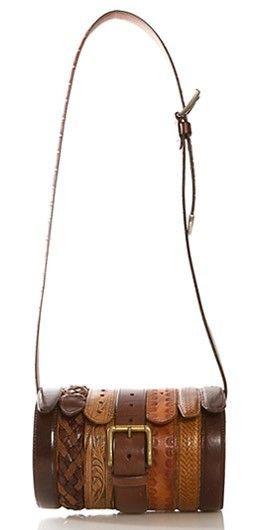 interesting bag - good use of old belts!