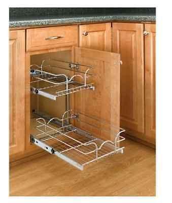 Pull Out Cabinet Organizer Kitchen Storage Organizer Rack Holder 2 Tier Basket Rev A Shelf Shelves Kitchen Cabinet Storage