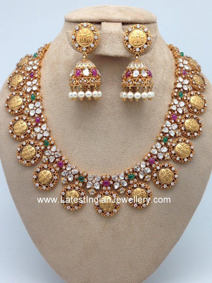 Ram Parivar Necklace Jhumkas  Jewelry  Jewelry Gold