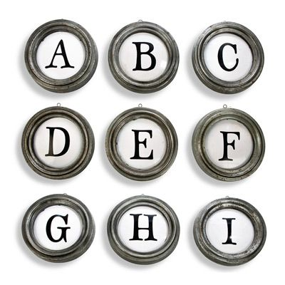 Aidan Gray Decor Framed Typeset Letters to spell out baby\'s name ...
