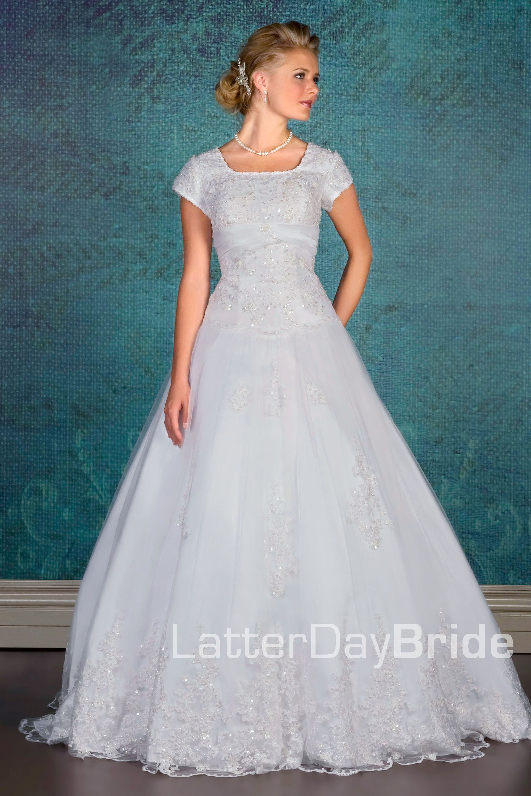 Modest Wedding Dress, Auburn | LatterDayBride & Prom...i like the ...