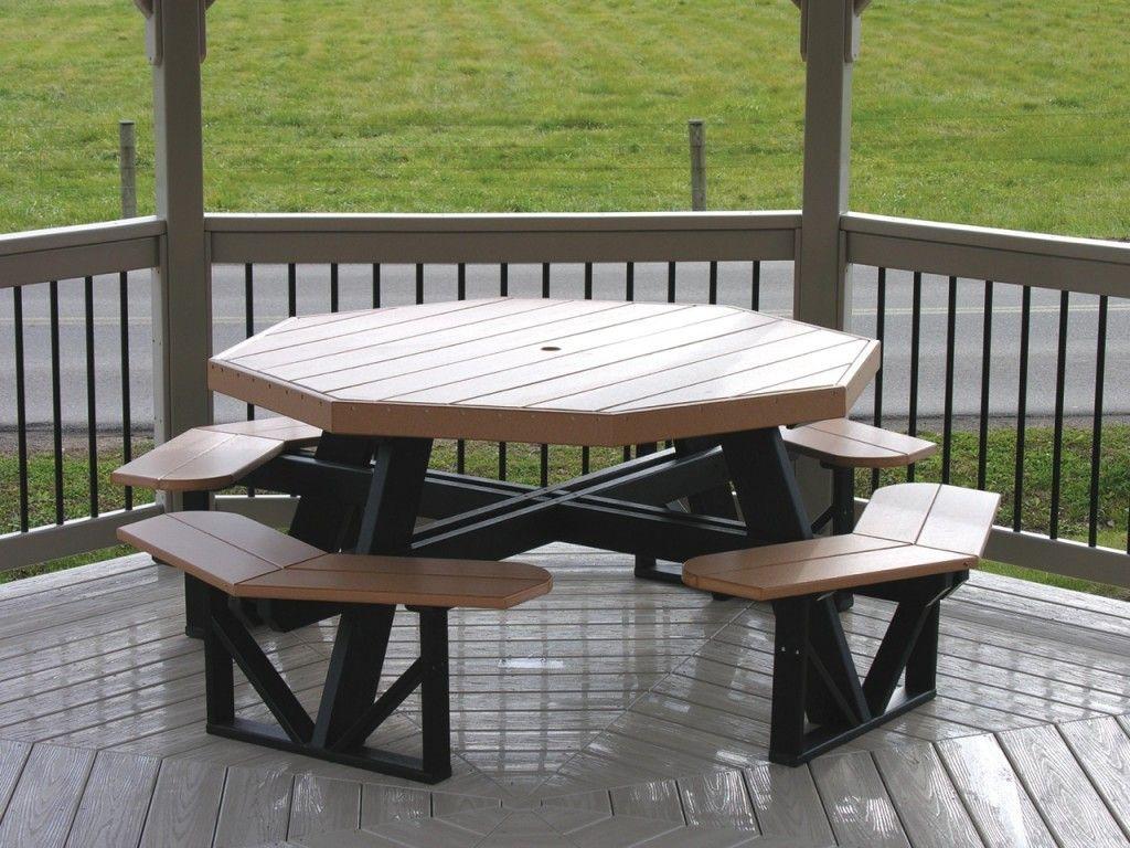 octagon picnic table polywood dutch haus custom furniture   Home ...