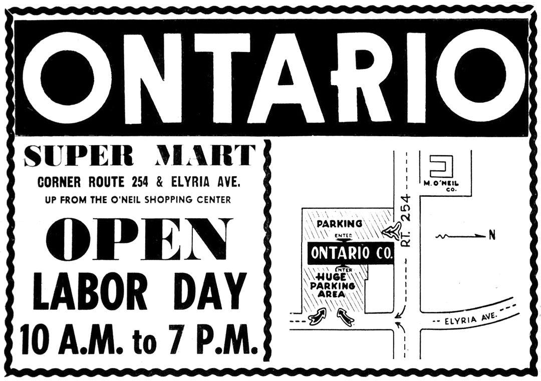 Lorain County Nostalgia Remember Ontario Dept Store Ontario Lorain County Remember