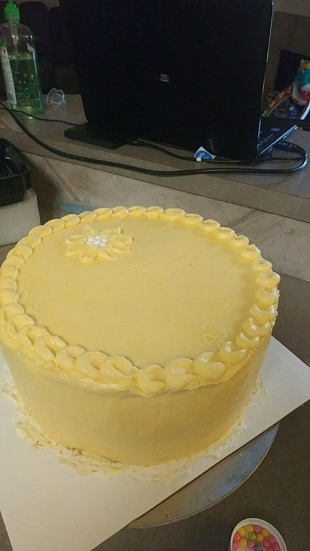 Lemon cake with flower | Crawley Cakes | Pinterest | Lemon and Cake
